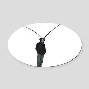 Mantis Man Oval Car Magnet