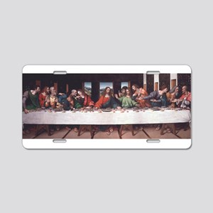 The Lords Last Supper Aluminum License Plate
