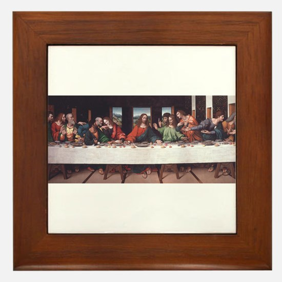 The Lords Last Supper Framed Tile