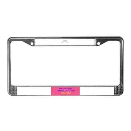 even more couch guy stuff License Plate Frame