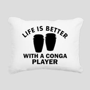Conga Player designs Rectangular Canvas Pillow