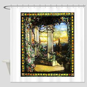 Greek Temple Garden Shower Curtain