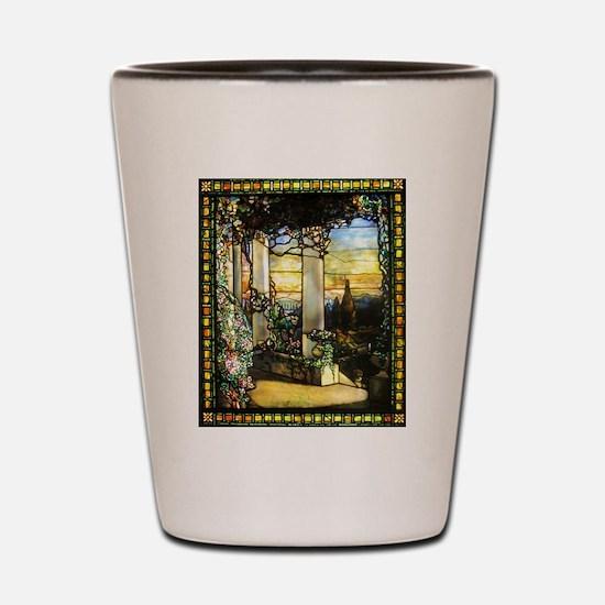 Greek Temple Garden Shot Glass