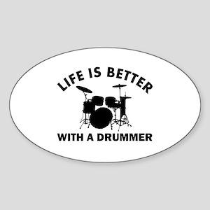 Drummer designs Sticker (Oval)