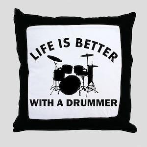 Drummer designs Throw Pillow