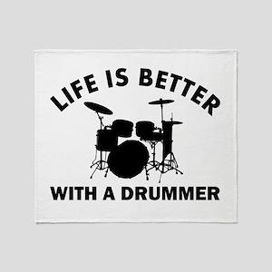 Drummer designs Throw Blanket