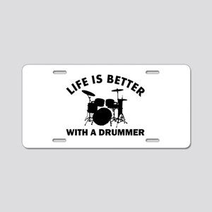 Drummer designs Aluminum License Plate