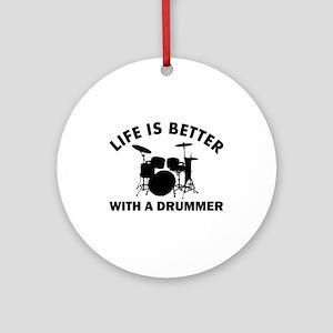 Drummer designs Ornament (Round)