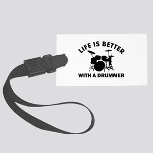 Drummer designs Large Luggage Tag