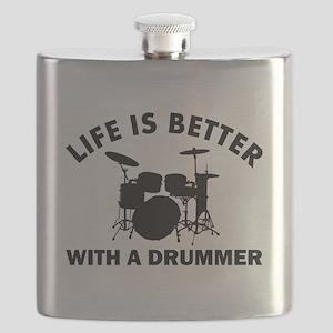 Drummer designs Flask