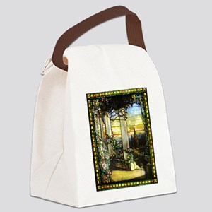 Greek Temple Garden Canvas Lunch Bag