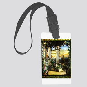 Greek Temple Garden Luggage Tag