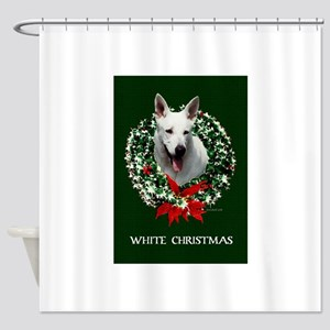 White Shepherd Shower Curtain