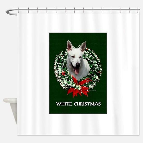 White Shepherd Shower Curtain