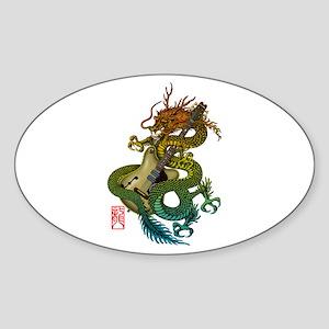 Dragon original 10 Sticker (Oval)