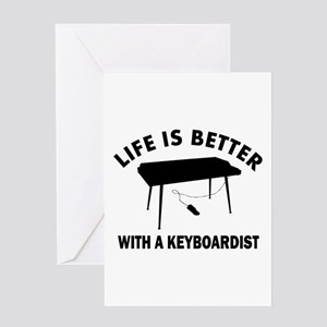 Keyboardist designs Greeting Card