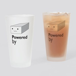 powered by tofu Drinking Glass