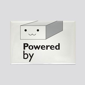powered by tofu Rectangle Magnet