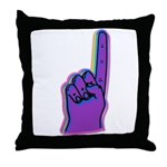 Foam Number One Finger Throw Pillow