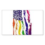 American Flag Color Sticker