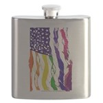 American Flag Color Flask
