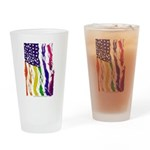 American Flag Color Drinking Glass