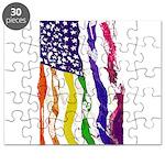 American Flag Color Puzzle