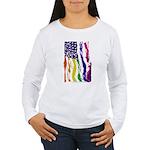American Flag Color Long Sleeve T-Shirt