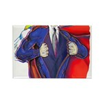 Super Man, Dad Rectangle Magnet (10 pack)