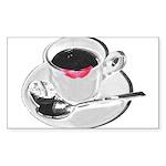 Coffee Lipstick Sticker