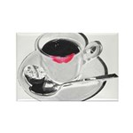 Coffee Lipstick Rectangle Magnet (10 pack)