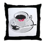 Coffee Lipstick Throw Pillow