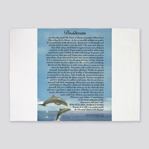 DESIDERATA Poem Dolphins 5'x7'Area Rug