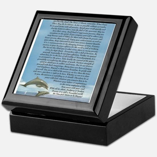 DESIDERATA Poem Dolphins Keepsake Box