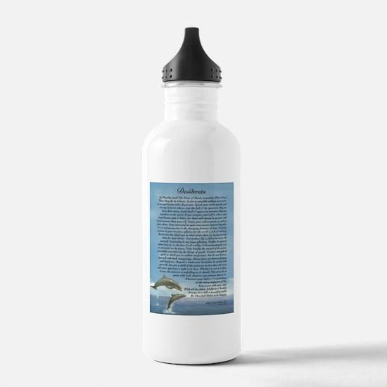 DESIDERATA Poem Dolphins Water Bottle