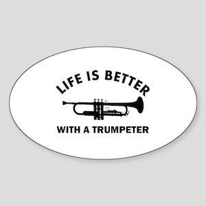 Trumpeter designs Sticker (Oval)