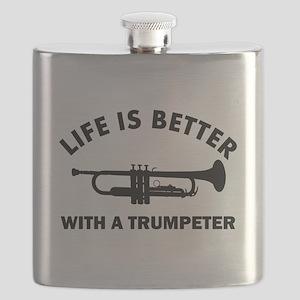 Trumpeter designs Flask