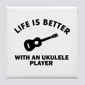 Ukulele designs Tile Coaster