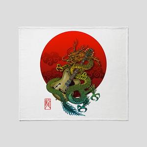 Dragon original sun 1 Throw Blanket