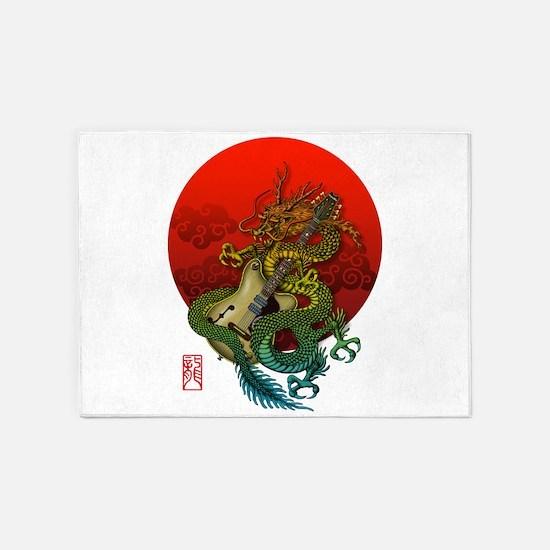 Dragon original sun 1 5'x7'Area Rug