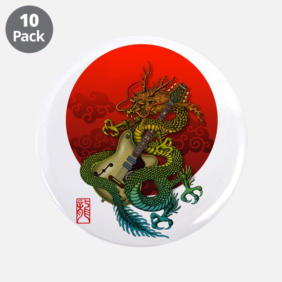 "Dragon original sun 1 3.5"" Button (10 pack)"