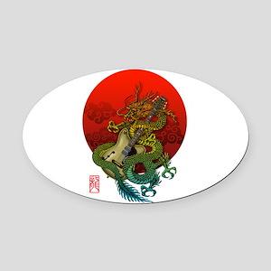Dragon original sun 1 Oval Car Magnet