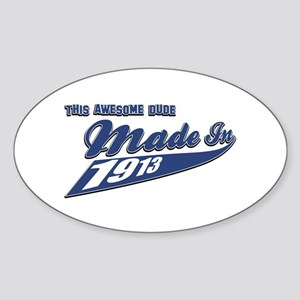Made in 1913 Sticker (Oval)