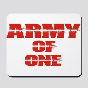 army of one Mousepad