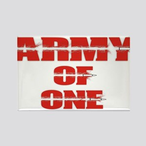 army of one Rectangle Magnet