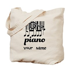 Personalized Piano Gift Tote Bag