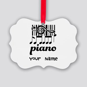 Personalized Piano Gift Picture Ornament
