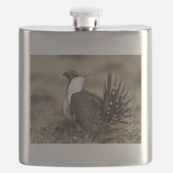 Sage Grouse Strut Flask