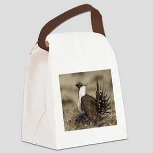Sage Grouse Strut Canvas Lunch Bag