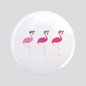 "Cool Flamingos 3.5"" Button"